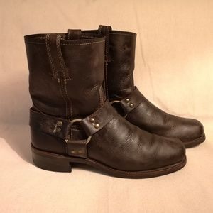 Frye Distressed Style Harness boots size 10